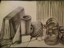Still life drawing-in pencil by anabelalima98