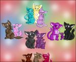 The Kitty Family by Marcella-Youko