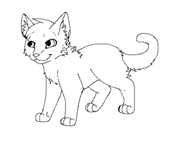 Kitten Lineart by StormFalconFire