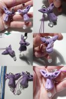 Espeon Bead Charms by ChibiSilverWings