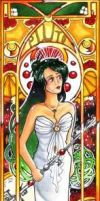Sailor Pluto Mucha style by Carcondis