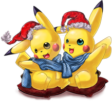 Pikachu winter season by ko-yuki-chan
