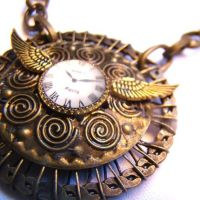 Clockwork Gears Tesla Necklace by SteamSociety