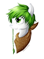 My Little Pony - OC Theo Headshot 14.04.2015 by gocholudek