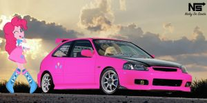 Pinkie Pie's Honda Civic Hatchback by NSDrift