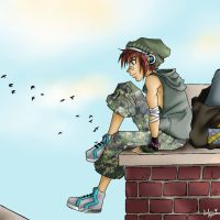 Skater Boy Sora by hardygrl13