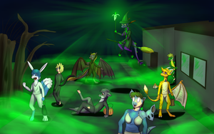 Halloween The witch curse (commision) by Tomek1000