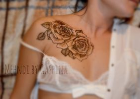 Collarbone rose by Gaspina