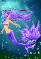 Violett Mermaid by oORayonOo