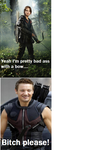 Hawkeye/Katniss meme by Rob026