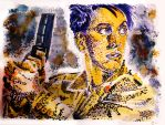 Jack Harkness in stipple by MWaters