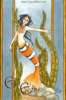 Clown fish Mermaid by LiquidFaeStudios