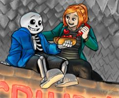 Undertale Sans and Autumn by jameson9101322