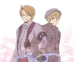USUK in uniform by maybebaby83