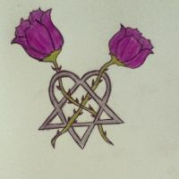 Heartagram Tattoo Design by Pixie94