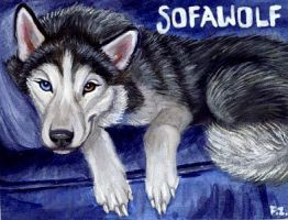 Sofawolf Conbadge by Foxfeather248