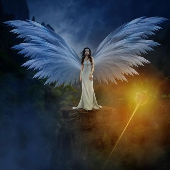 Angel Girl Photomanipulation by graphicstute