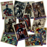 Agent Coulson's vintage Cap cards by gph-artist