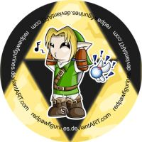 Link Chibi Badge by RedPawDesigns