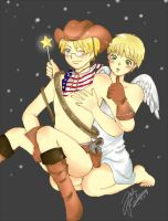 Cowboy and Britannia Angel by the-kingy