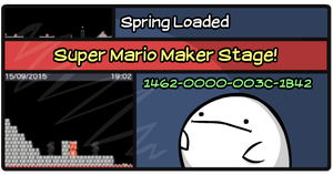 Mario Maker Stage: Spring Loaded by PeekingBoo