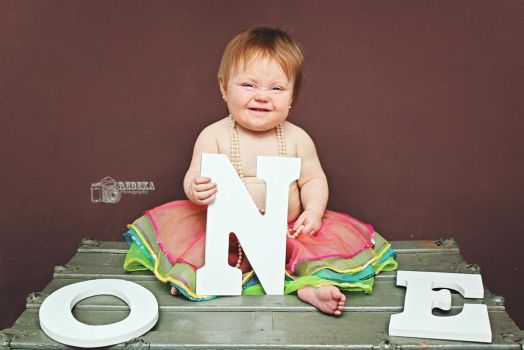 Toddler Giggle by RebekaPhotography