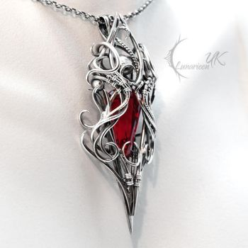 XATHRAN OTHORIA - Silver, Red Quartz and Garnet. by LUNARIEEN