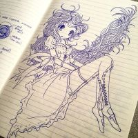 I should stop drawing on lined paper by ohhLenai