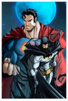 Batman and Superman by dcjosh
