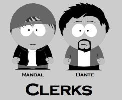 Clerks - South Park by killALLthezombies