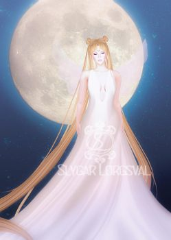 The Moon by LauraNiko