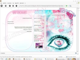 Blog-template Light in the eye by BellatrixStar