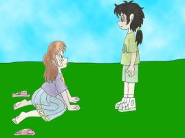 Josh and Olivia first meet by Animedalek1