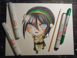 Copic Chibi Toph by Mireielle