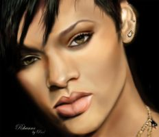 Rihanna Digital Painting by Paul915