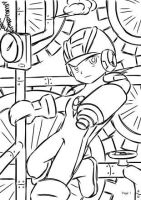 MegaMan.EXE - Lineart by phersopiers