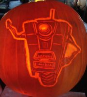 Borderlands CL4P-TP Hello Minions Pumpkins by RebelATS