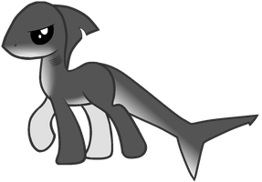 Anti shark cull pony by SiliconeMess