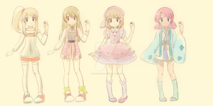Pokemon trainer adoptables -CLOSED - by KurumiErika