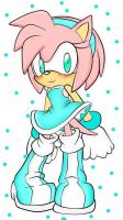 Amy Rose .:Colored:. by ilikeicecream45
