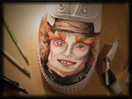 Mad Hatter Shoe by StaticSkies