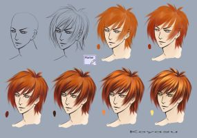 Tutorial on hair by KoyasuKo