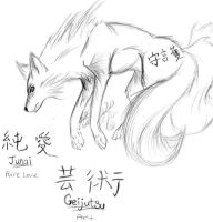 Kitsune Sketch by xSoRaIx