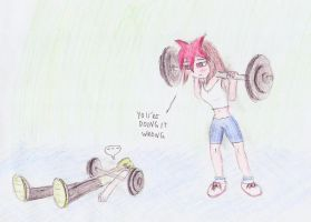 Aeolus and Atlas in gym by TunDeri