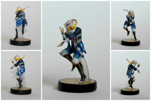 Hyrule Warriors Sheik Custom Amiibo by PixelCollie