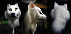 Arctic Fox-wolf Mask by Monoyasha