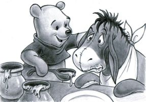 Winnie the Pooh and Eeyore by zdrer456