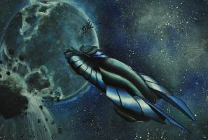 Concept Car in Outer Space by miphi017