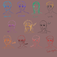 RvB Headcanons -sketches- by Cabooselover