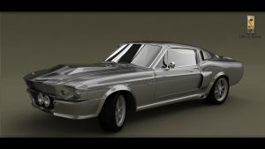 Mustang Shelby GT 500 1967 render1 by Siegfried-Ukr